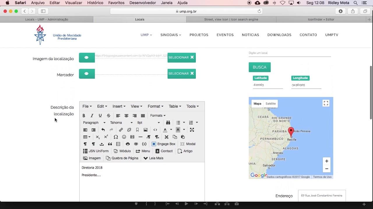 Aprenda a editar os dados de sua UMP em nosso mapa.
