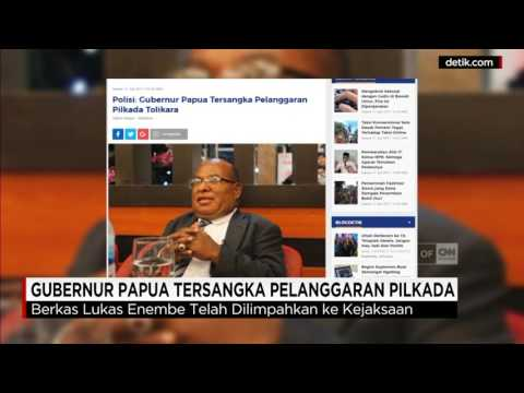 Gubernur Papua Lukas Enembe Ditetapkan Tersangka Pelanggaran Pilkada Tolikara