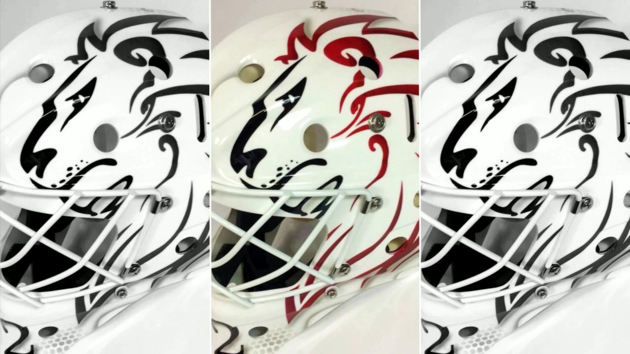 Mask Hockey Goalie Custom Paint By Venom Design Sebastien Guerrin