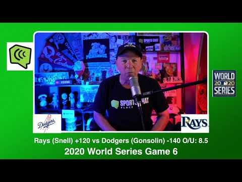 Tampa Bay Rays vs Los Angeles Dodgers World Series Game 6 Tuesday 10/27/20 MLB Picks & Predictions