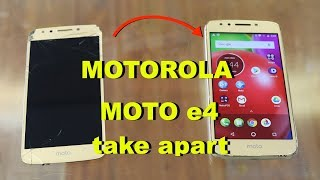 Motorola Moto e4 XT1765 - How To Repair Screen LCD Glass - Charging Port
