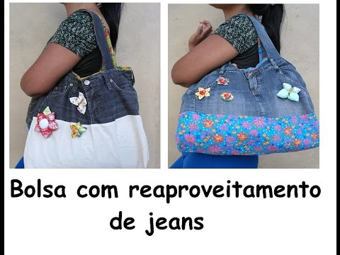 d7e32b1cb bolsa reaproveitando jeans passo a passo - YouTube