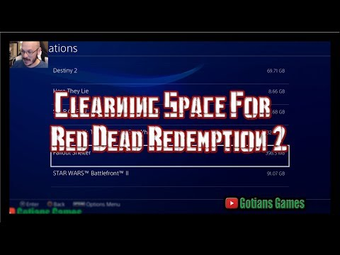Red Dead Redemption takes 100gb of Data to Install and Play! Clearing data on My PS4 Mp3