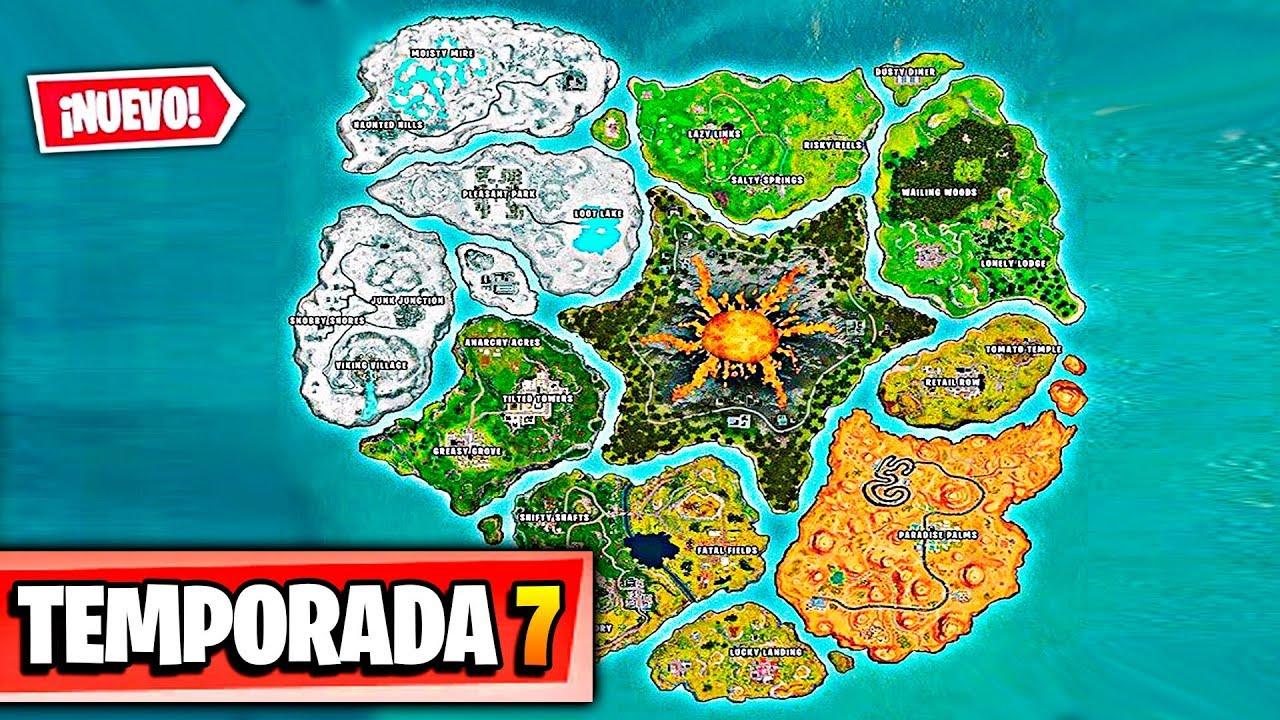 Fortnite Temporada 7 Mapa.Nuevo Mapa Temporada 7 En Fortnite Battle Royale Nueva Temporada