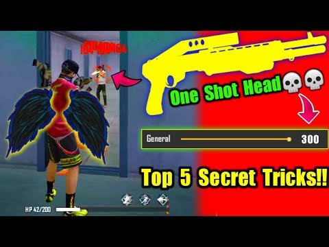 One Shot Headshot💀😲//Top 5 Secret Tips & Tricks!!