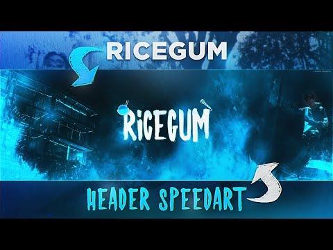 'RiceGum' - Twitter Header Speedart (@RiceGum)