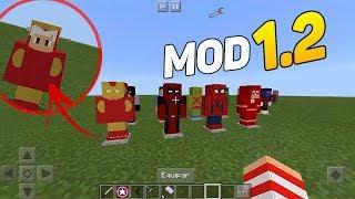Minecraft PE : MOD SUPER HERÓIS, COM VÁRIOS PODERES ! (Minecraft Pocket Edition)