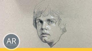 Schnell-Porträts zeichnen lernen. Kohle-Portraits. Realistische Portraits zeichnen lernen