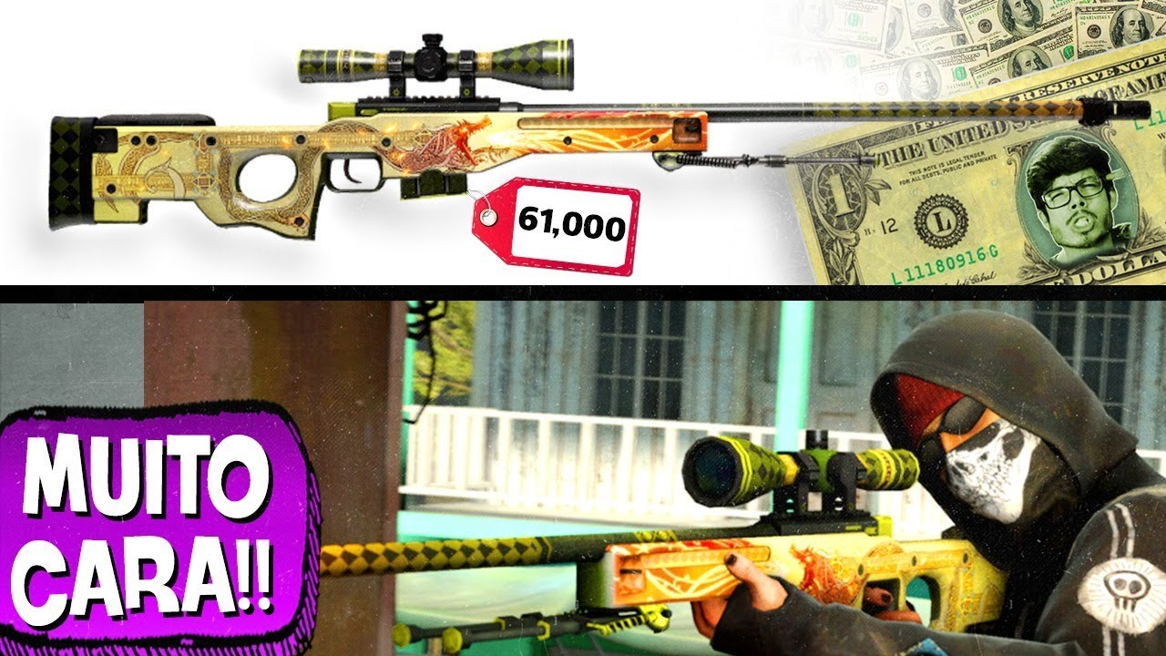 AS SKINS MAIS CARAS DE COUNTER-STRIKE!