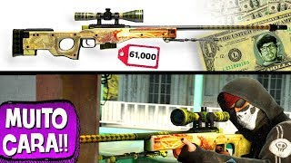 AS SKINS MAIS CARAS DE COUNTER-STRIKE! 🔫💸