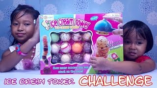 Ice Cream Tower FAMILY CHALLENGE 💖 UNBOXING Mainan Ice Cream Tower 💖 Jessica Jenica