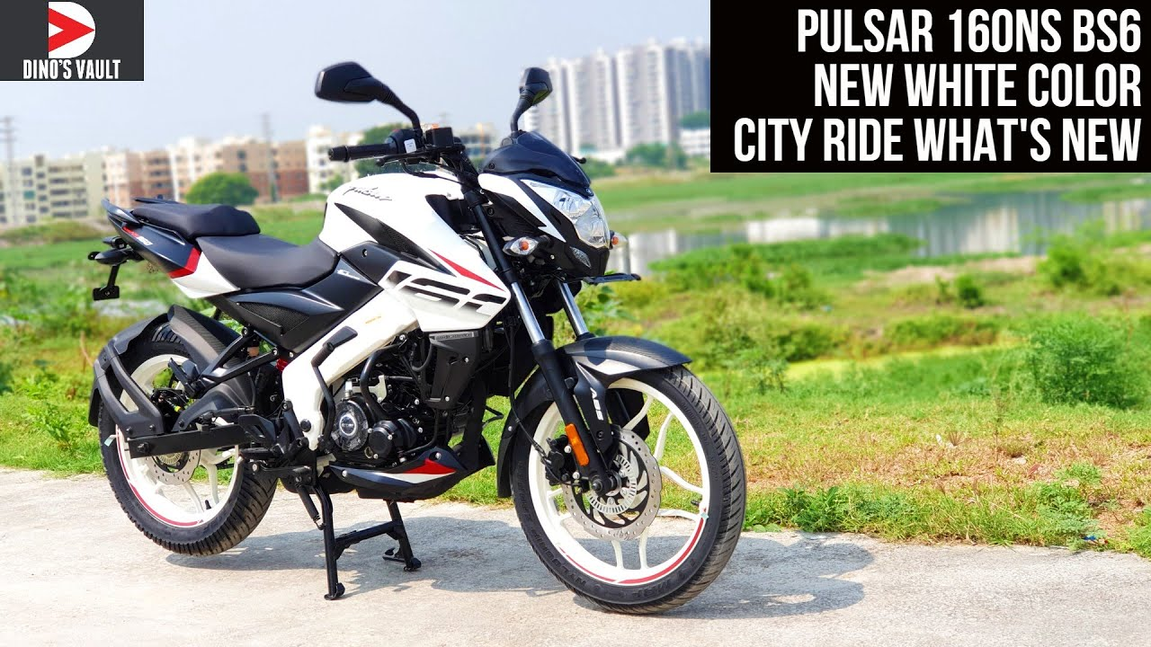 Bajaj Pulsar 160NS BS6 New White Color City Ride Review What's New #Bikes@Dinos