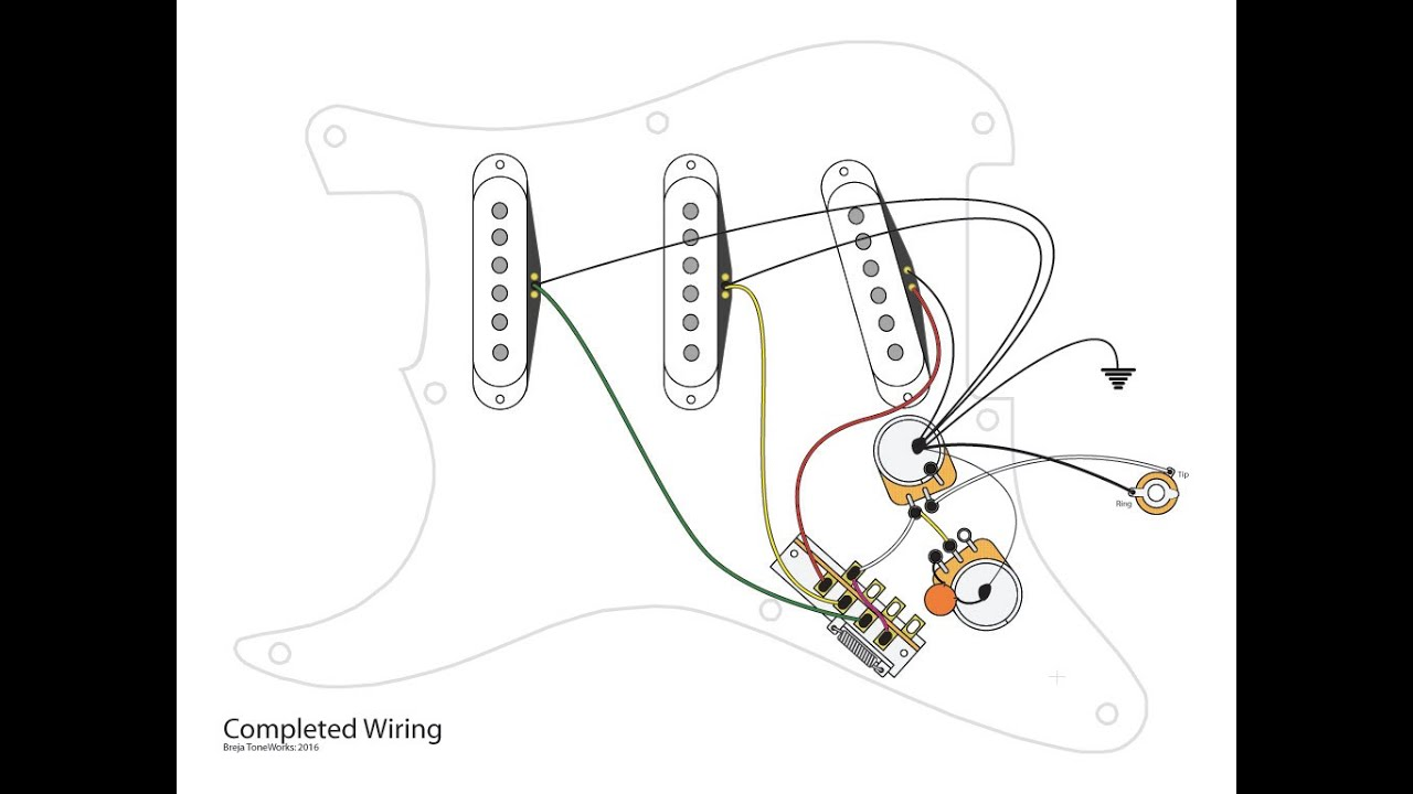 single pickup guitar wiring diagram car audio capacitor 3 coils with 5 way and master vol tone controls