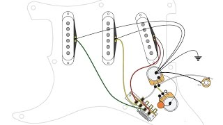 Fender P J B Wiring Diagram together with Gibson 50s wiring on a Stratocaster besides Guitar Wiring Diagrams together with Fender Squier Strat Wiring Diagram furthermore Strat Dummy Coil Wiring Diagram. on strat wiring mods