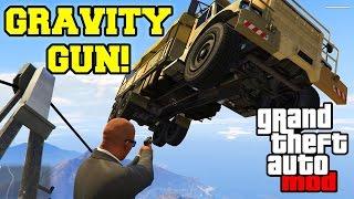 GRAVITY GUN MOD (GTA V MOD) | Soulève des voitures sur GTA V !
