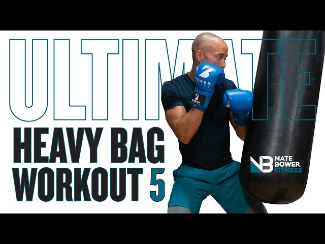 Ultimate 20 Minute Boxing Heavy Bag Workout 5 | NateBowerFitness
