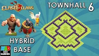 TH6 HYBRID Anti Air Base (Air Sweeper) with New AIR SWEEPER - Clash of Clans 2015