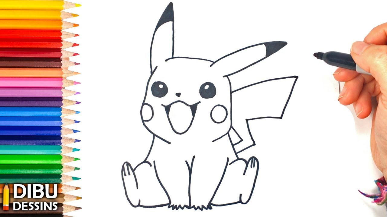 Dessin De Pikachu - YouTube