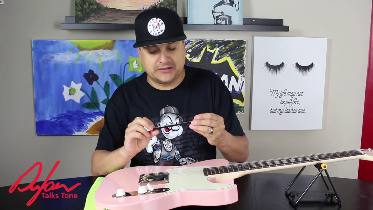 dylan talks tone how to set string height action electric guitar youtube. Black Bedroom Furniture Sets. Home Design Ideas