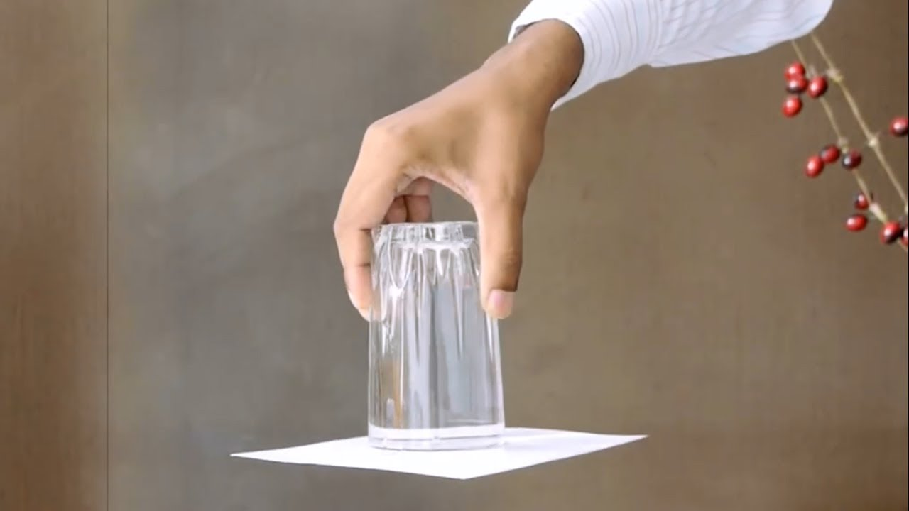 Upside Down Glass Of Water Trick Science Experiment Educational 3 Way Switch Videos By Mocomi Kids
