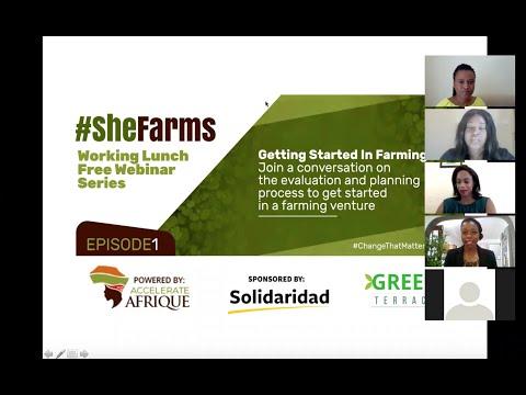 """International Women's Month """"She Farms"""" Webinars 1/4"""