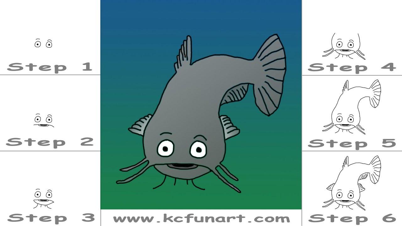 107 How To Draw A Cartoon Catfish Youtube