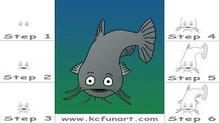 107-How To Draw A Cartoon Catfish