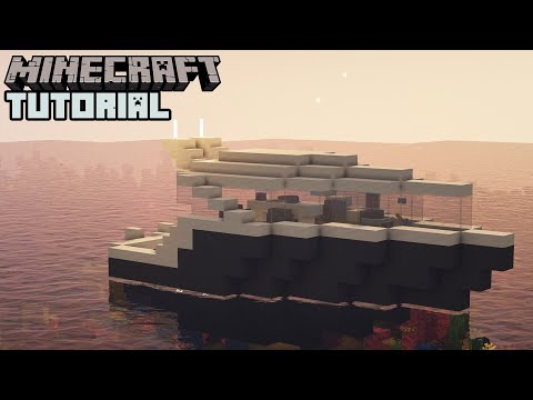 Minecraft - How To Build A Yacht (Easy)