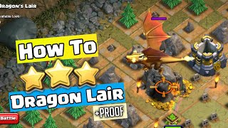 How To 3 Star DRAGON'S LAIR at TH9 | Clash of Clans Goblin Maps