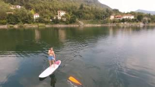 Lago grande di avigliana - sup ripreso dal drone bebop 2