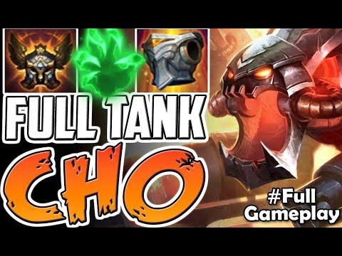 FULL TANK CHO | IS THIS STRONG? | New Runes Cho'Gath vs Darius TOP BUILD | PBE SEASON 8 Gameplay