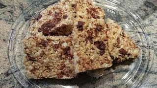Rice Krispies Treats With Chopped Almonds