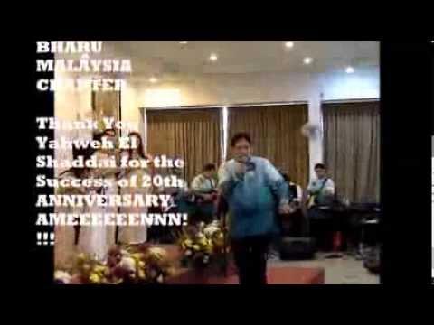 MASAI JOHOR BHARU GOSPEL CHOIR, EL SHADDAI MALAYSIA CHAPTER 20th ANNIVERSARY SEPT 1, 2013