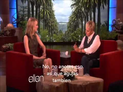 Emma Stone en The Ellen DeGeneres Show...
