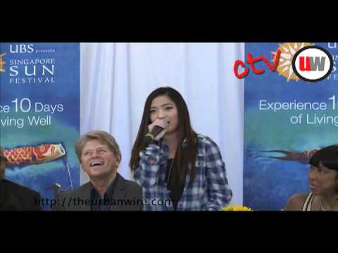 Charice imitates Justin Bieber + Chipmunks (Singapore Sun Festival 2010)