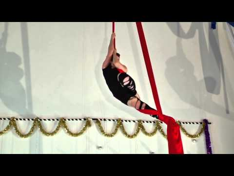 Angela B on Aerial Fabric at Circus Building/Aerial Fit's Winter Student Showcase