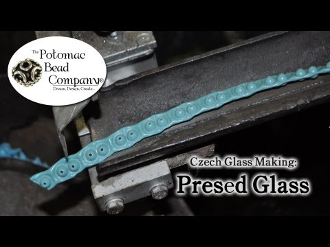 Making Czech Glass - Pressing (Step 1)