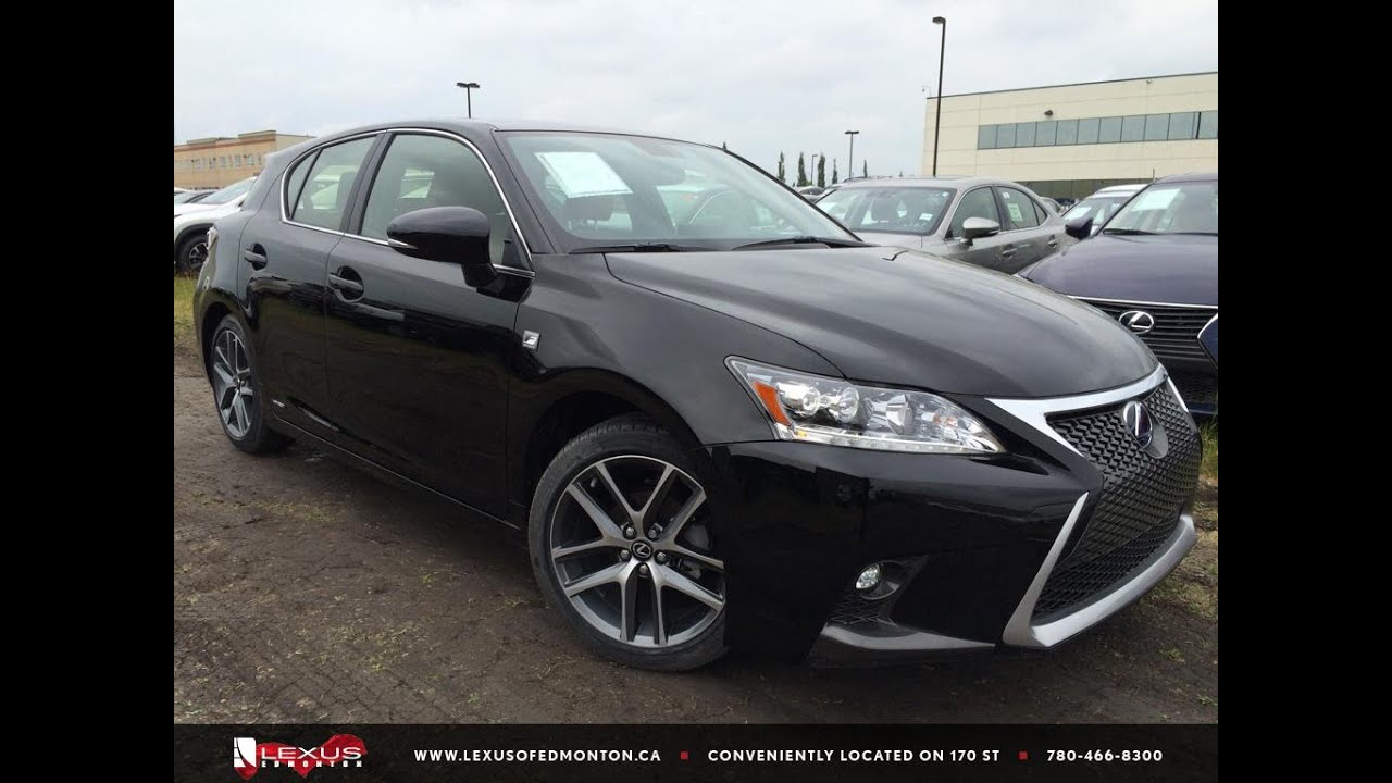 new black 2015 lexus ct 200h fwd hybrid f sport review south edmonton youtube. Black Bedroom Furniture Sets. Home Design Ideas