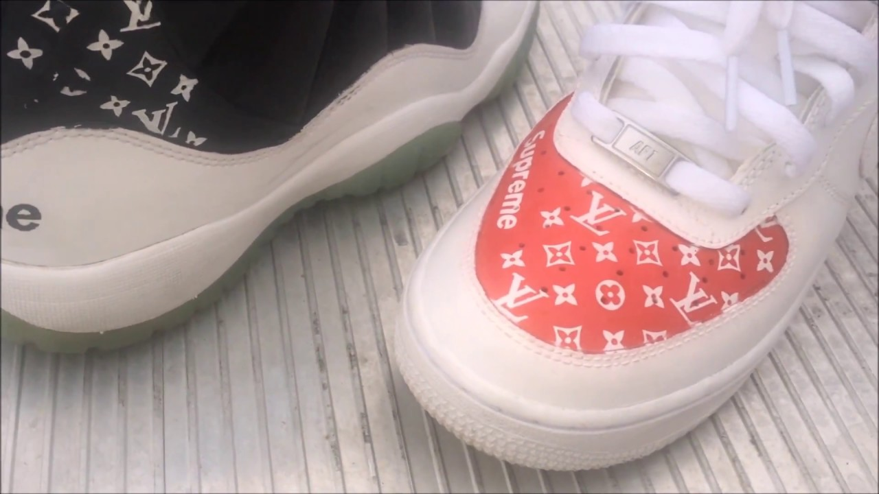 How To: Lv X Supreme Stencil Custom (HD Quality Recommended) - YouTube