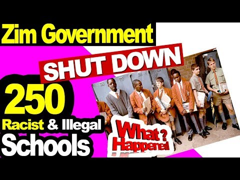 Zimbabwe shuts down 250 'racist' private Schools & Illegal Colleges Dominican Convent St Georges
