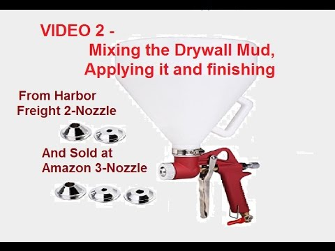 HARBOR FREIGHT TEXTURE PAINT SPRAY GUN 66103 mixing the mud YouTube