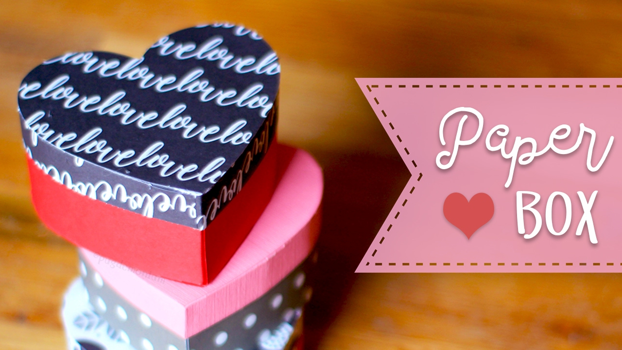 How To Make A Heart Shaped Paper Gift Box DIY Gift Box YouTube