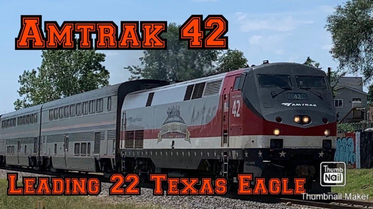 Amtrak 42 on the 22 Texas Eagle 6/15/20