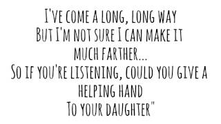 His Daughter- Molly Kate Kestner (Lyrics)