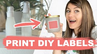 How to Print DIY Product Labels at Home (Candles + skincare) | Phomemo Printer Review - M110 vs. M02