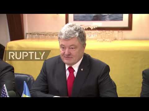 Ukraine: Poroshenko visits guided missile destroyer USS Donald Cook in Odessa