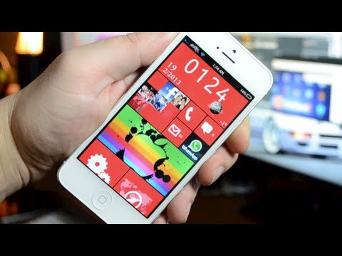 "Windows Phone 8 Theme For iPhone 5 & iPod Touch 5G ""Best Dreamboard Themes 2013"""