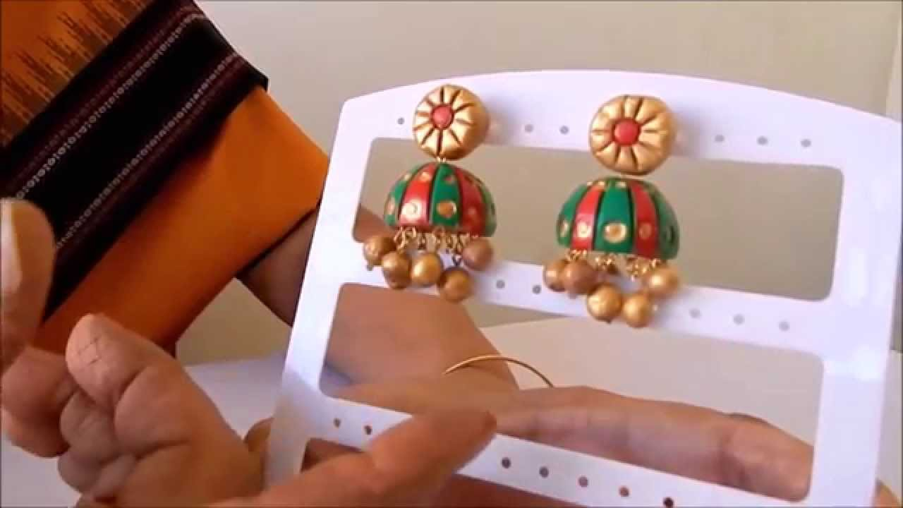 how to make terracotta jewellery at home