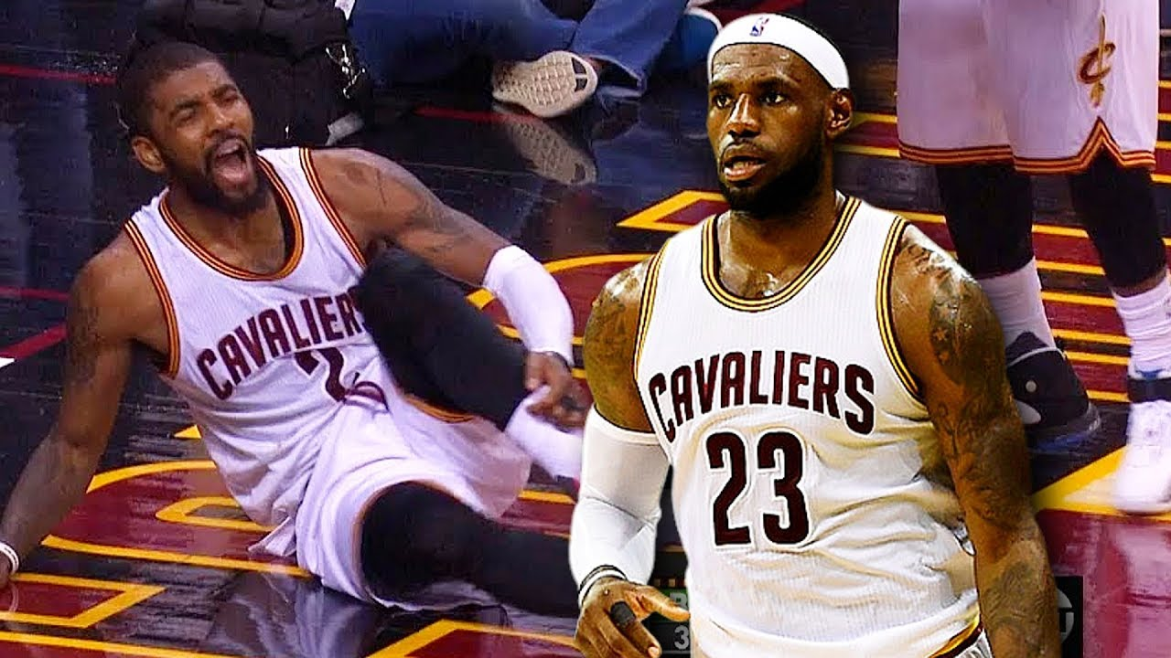 a305b5ec043 LeBron James Breaks Kyrie Irving Ankles (Kyrie Irving Gets Ankle Broken By  LeBron James)