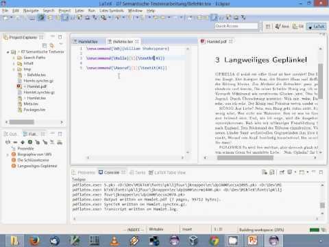 LaTeX-Einführung: 07. Semantische Textverarbeitung